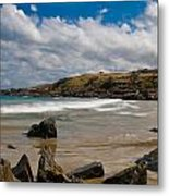 Sea Landscape With Bay Beach Metal Print