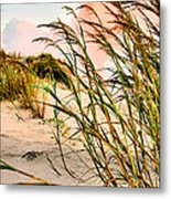 Sea Oats And Dunes Metal Print by Kristin Elmquist
