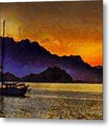 Sea Of Cortez Sunset In Baja Metal Print