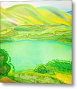 Sea Of Grass Waves Of Mustard Metal Print by Jill Targer