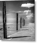 Sea Sand And Steel Metal Print