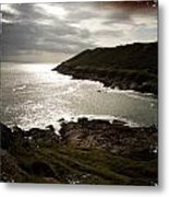 Sea Scape On The Gower Metal Print