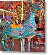Sea Serpent Carousel Ride Metal Print