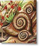 Sea Shells Of Life Metal Print