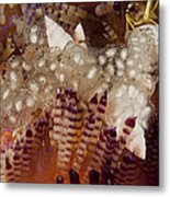 Sea Snails Laying Eggs On Top Of A Fire Metal Print