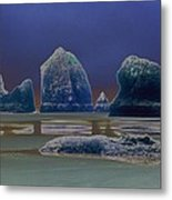 Sea Stacks On The Oregon Coast Metal Print