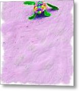 Sea Turtle Escape Card Metal Print