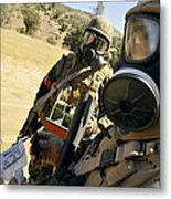 Seabees Conduct Decontamination Wash Metal Print