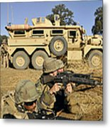 Seabees Defend Their Camp Metal Print