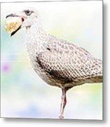 Seagull Steeling Food Metal Print