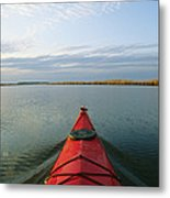 Seakayak Bow Parts The Rippled Water Metal Print