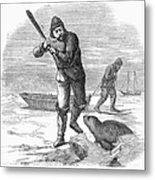 Seal Hunting, 1867 Metal Print