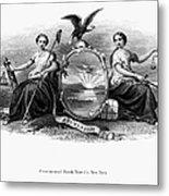 Seal Of New York, 1870 Metal Print