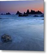 Seal Rock Dusk Metal Print by Mike  Dawson