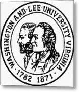 Seal: Washington & Lee Metal Print