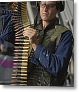Seaman Prepares To Load Ammunition Metal Print