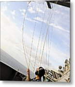 Seaman Raises The Foxtrot Flag Metal Print