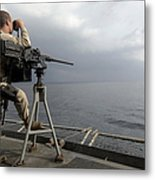 Seaman Scans The Ocean Metal Print