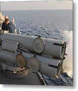 Seamen Fire An Air Slug From A Mk-32 Metal Print