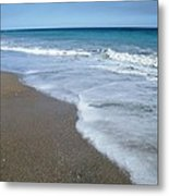 Seascape Wrightsville Beach Nc  Metal Print by Joan Meyland