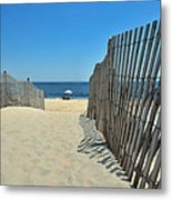 seashore 100 Cape Henlopen Beach walkway Metal Print