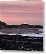 Seashore At Sunset, Northumberland Metal Print