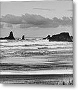 Seaside By The Ocean Metal Print