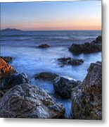 Seaside Rocks Metal Print