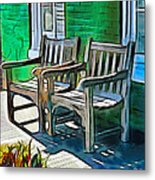 Seating For Two Metal Print