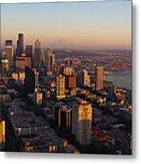 Seattle Blue Hour Metal Print