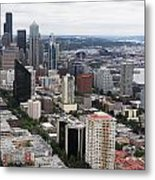 Seattle From The Needle Metal Print