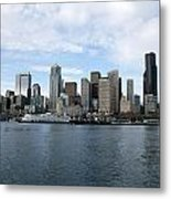 Seattle From The Water Metal Print