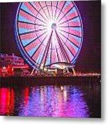 Seattle Great Wheel 2 Metal Print