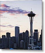 Seattle Skyline At Dusk Metal Print