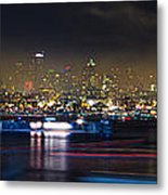 Seattle Skyline Firework Panorama Metal Print by Dmitry Grekov