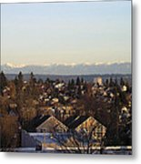 Seattle Suburb In Winter Metal Print by Silvie Kendall
