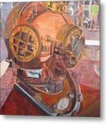 Seaworld Copper Diving Helmet Metal Print