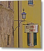 Secluded Restaurant Of Tuscany Metal Print