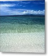 Secluded White Sands Beach Metal Print