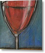 Second Glass Of Red Metal Print by Tim Nyberg