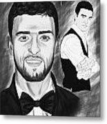 Secret Agent Justin Timberlake Metal Print
