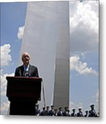 Secretary Of The Air Force Salutes Metal Print by Stocktrek Images