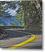 Section Of Columbia River Gorge Metal Print