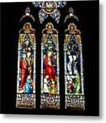 Selby Stained Glass Metal Print