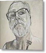 Self Portrait Metal Print by Peter Edward Green