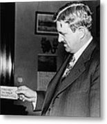 Senator Clarence C. Dill Of Washington Metal Print by Everett