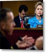 Senator Hillary Clinton A Member Metal Print by Everett