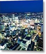 Sendai Train Station By Night Metal Print