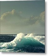 Sennen Surf Seascape Metal Print