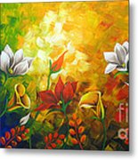 Sentient Flowers Metal Print by Uma Devi